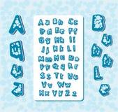 Aqua bubble letters Stock Images