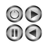 Aqua button royalty free stock photos