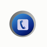 Aqua Button Call Us Royalty Free Stock Images