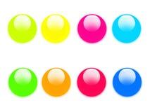 Aqua button collection Stock Image