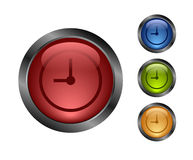 Aqua button-time Royalty Free Stock Images
