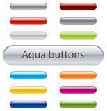 Aqua buttons Stock Image