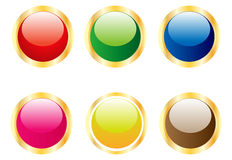 Aqua buttons Royalty Free Stock Images