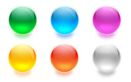 Aqua buttons Stock Photo