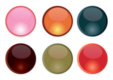 Aqua buttons. Various colored aqua type buttons Place your own text to make them yours stock illustration