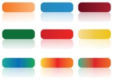 Aqua buttons Stock Images