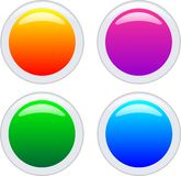 Aqua buttons Royalty Free Stock Photos