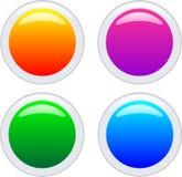 Aqua buttons. Four glossy aqua web buttons Royalty Free Stock Photos