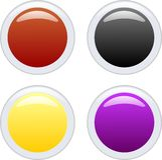 Aqua buttons. Four glossy aqua web buttons Stock Photos