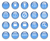 Aqua Buttons blue Stock Photography