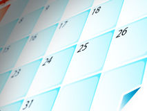 Aqua calendar. Illustration of aqua style calendar Royalty Free Stock Photo