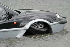 Aqua Car Royalty Free Stock Photos