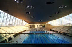 Aqua centre of London's Olympic village Stock Photos