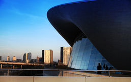 Aqua centre Londyn wioska olimpijska Obrazy Stock