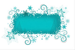 Aqua Christmas background  Stock Photo
