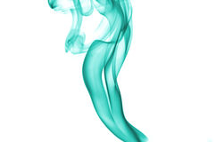 Aqua color smoke Stock Photography