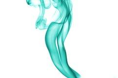 Aqua color smoke. On white background Stock Photography