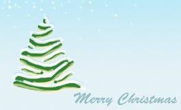 Aqua d'arbre de Noël Images libres de droits