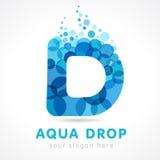 Aqua d listu opadowy logo Obraz Royalty Free