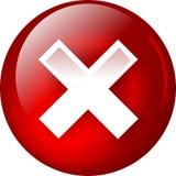 Aqua del botón del Web de la cancelación Imagen de archivo
