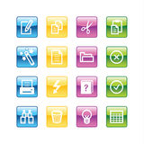 Aqua document icons Royalty Free Stock Images