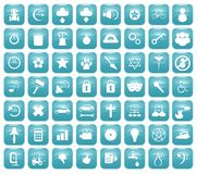 Aqua Downy Icon Set 2 Stock Images