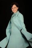 aqua dress formal woman royaltyfria bilder