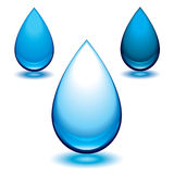 Aqua droplet Stock Images