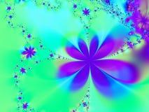 Aqua e stella viola Immagine Stock