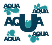 Aqua emblems Royalty Free Stock Photo