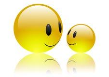 Aqua Emoticons - Friendship royalty free stock photos