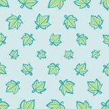 Aqua en het Groene Vector Naadloze Patroon van het Sterblad royalty-vrije illustratie