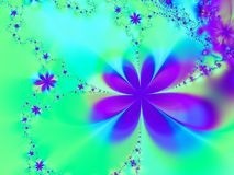 Aqua et étoile pourprée Image stock
