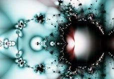 Aqua et fractale abstraite rouge Images libres de droits