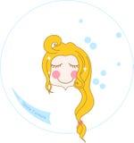 Aqua face wash Stock Image
