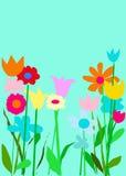 Aqua-Farben-Garten Lizenzfreie Stockfotos