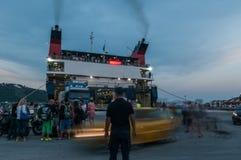 Aqua ferries ship Royalty Free Stock Image