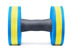 Aqua fitness dumbbell Royalty Free Stock Photos
