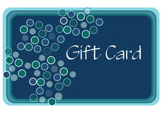 Aqua Gift Card. Gift card for shopping drawn in Illustrator CS2 Royalty Free Stock Photos