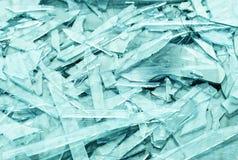 Aqua glass fragments textured background Royalty Free Stock Photos