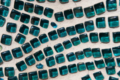 Aqua Glass Mosaic Texture Photos libres de droits