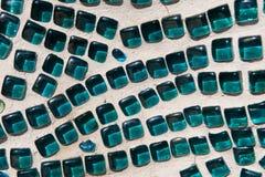 Aqua Glass Mosaic Texture Royaltyfria Foton