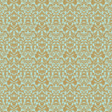 Aqua gold floral wedding damask seamless pattern Stock Images