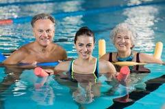 Aqua gym class Royalty Free Stock Photo