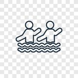 Aqua Gym concept vector linear icon isolated on transparent back stock illustration