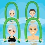 Aqua Gym Foam Rollers mayor stock de ilustración