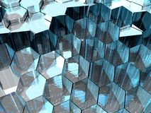 Aqua Hexagons Royalty Free Stock Image
