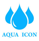 Aqua icon Royalty Free Stock Photography