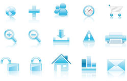 Aqua Icons. Collection of vector icons aqua style ready to be used Stock Photo