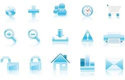 Aqua Icons Stock Photo